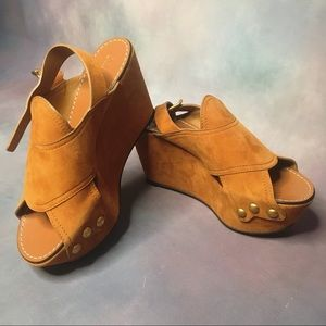 Suede Wedges by Chloé NWT